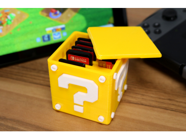 Image of Nintendo Switch Mods to 3D Print: Question Block Switch Cartridge Case