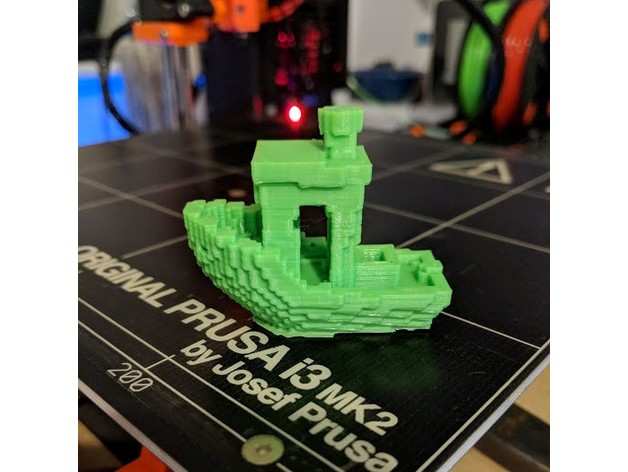 A printed Voxel Benchy.
